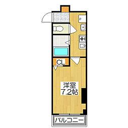 シティコート丸太町[502号室]の間取り