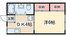 Osaka Metro堺筋線 天神橋筋六丁目駅 徒歩4分の賃貸マンション 3階1DKの間取り
