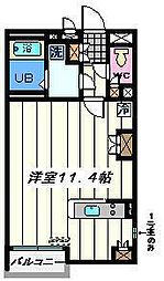 埼玉県草加市吉町4丁目の賃貸アパートの間取り