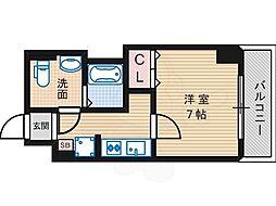 Osaka Metro御堂筋線 長居駅 徒歩2分の賃貸マンション 5階1Kの間取り