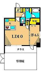 プレール・ドゥーク品川南大井 1階1LDKの間取り