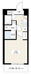 MAXIV武蔵新城 4階1Kの間取り