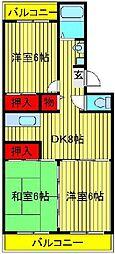 エスポアール如春堂[305号室]の間取り