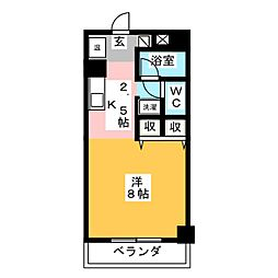 レジオンドヌール[5階]の間取り