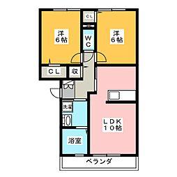 エステイトZEN C[3階]の間取り