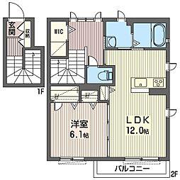 ハピネスIII[2階]の間取り