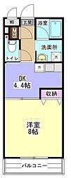 小田急小田原線 相模大野駅 バス14分 麻溝台高校前下車 徒歩2分の賃貸マンション 3階1DKの間取り