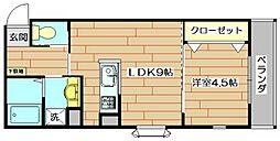 メティスクV[3階]の間取り