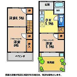 [テラスハウス] 徳島県鳴門市撫養町木津 の賃貸【/】の間取り