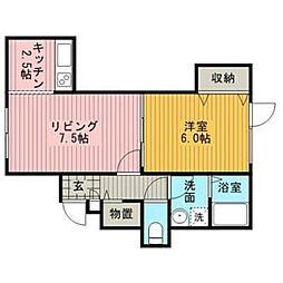 コートフルーレII[1階]の間取り
