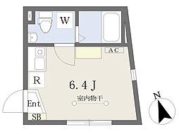 D-BASE北千住 3階ワンルームの間取り