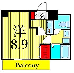 つくばエクスプレス 浅草駅 徒歩10分の賃貸マンション 8階1Kの間取り