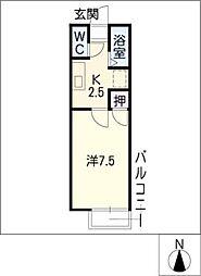 エクシブAsano[2階]の間取り