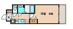 プレサンス北堀江[13階]の間取り