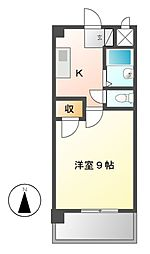 愛知県名古屋市名東区高社2の賃貸マンションの間取り