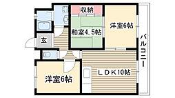 愛知県名古屋市守山区瀬古3丁目の賃貸マンションの間取り