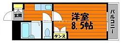 岡山県倉敷市徳芳の賃貸マンションの間取り