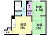 間取り,2DK,面積45.4m2,賃料4.3万円,バス JRバス新琴似2条10丁目下車 徒歩4分,,北海道札幌市北区新琴似一条10丁目4番1号