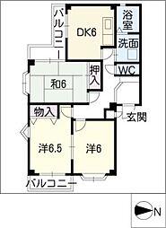 レジデンス大高台[2階]の間取り
