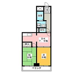 LIVE COURT MOURI[2階]の間取り