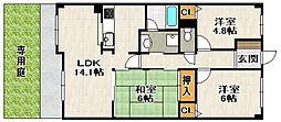 エンゼルハイム宝塚第5[106号室]の間取り