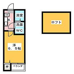 愛知県名古屋市中村区大秋町3の賃貸アパートの間取り