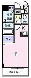 埼玉県ふじみ野市上福岡6丁目の賃貸アパートの間取り