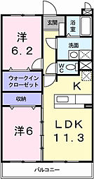リバーサイドブライト[3階]の間取り