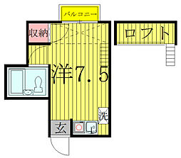 コーポタイガー[2階]の間取り
