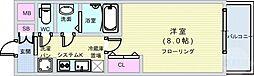 Osaka Metro長堀鶴見緑地線 松屋町駅 徒歩6分の賃貸マンション 14階1Kの間取り