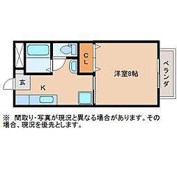 静岡県静岡市葵区長沼2丁目の賃貸アパートの間取り