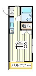 サンハイツ依舞伎[2階]の間取り