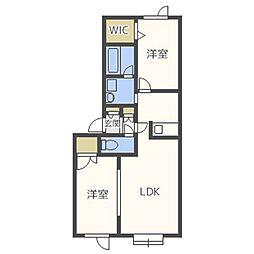フォーレスト45II[2階]の間取り