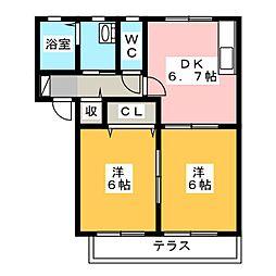 フォーレスK[1階]の間取り