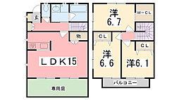 [テラスハウス] 兵庫県姫路市鷹匠町 の賃貸【/】の間取り