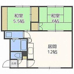 美東マンションB[2階]の間取り