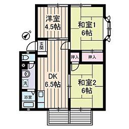 神奈川県横浜市都筑区勝田南1丁目の賃貸アパートの間取り