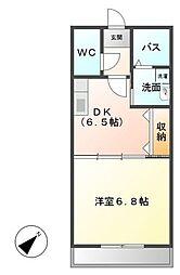 埼玉県越谷市新越谷2丁目の賃貸マンションの間取り