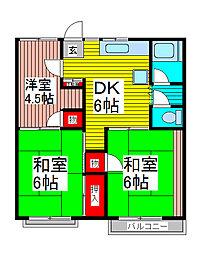 山野コーポ[1階]の間取り
