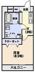 PAYSAGE TAMAKI[201号室]の間取り