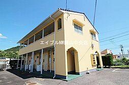 岡山県岡山市中区長利の賃貸アパートの外観