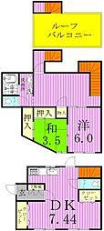 [タウンハウス] 千葉県松戸市新松戸6丁目 の賃貸【/】の間取り
