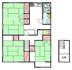リバーベッドシマ[2階]の間取り