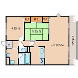 奈良県奈良市二条町2丁目の賃貸マンションの間取り