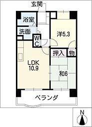 コスモII[6階]の間取り
