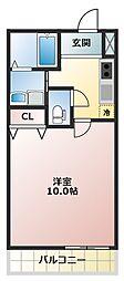 フジパレス南塚口3番館 1階1Kの間取り