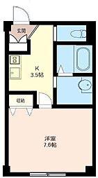 神奈川県大和市中央林間3の賃貸マンションの間取り