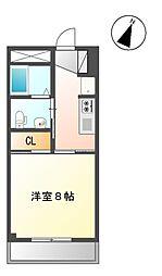 S・DIAS[3階]の間取り