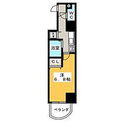 プレサンス覚王山D−StyleⅡ[7階]の間取り