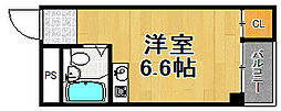 兵庫県宝塚市向月町の賃貸マンションの間取り